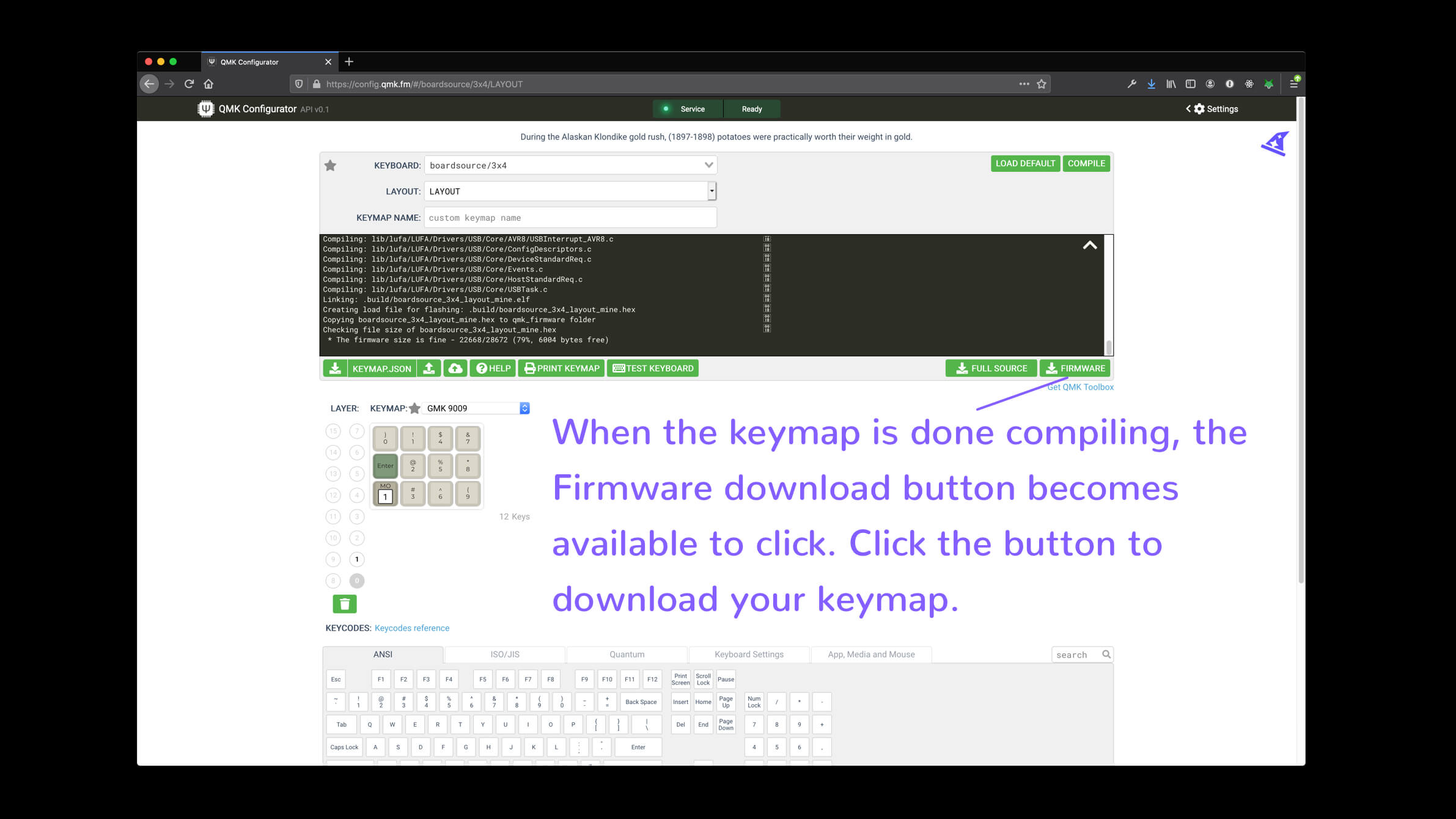 qmk configurator compiling download